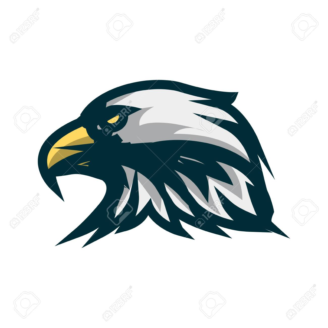 Eagle head minimalist logo design. Eagle head vector illustration...