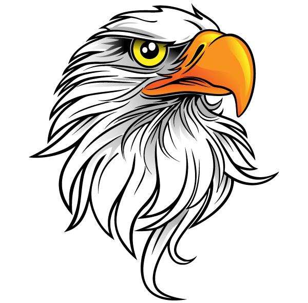 Free Eagle Head Clip Art.