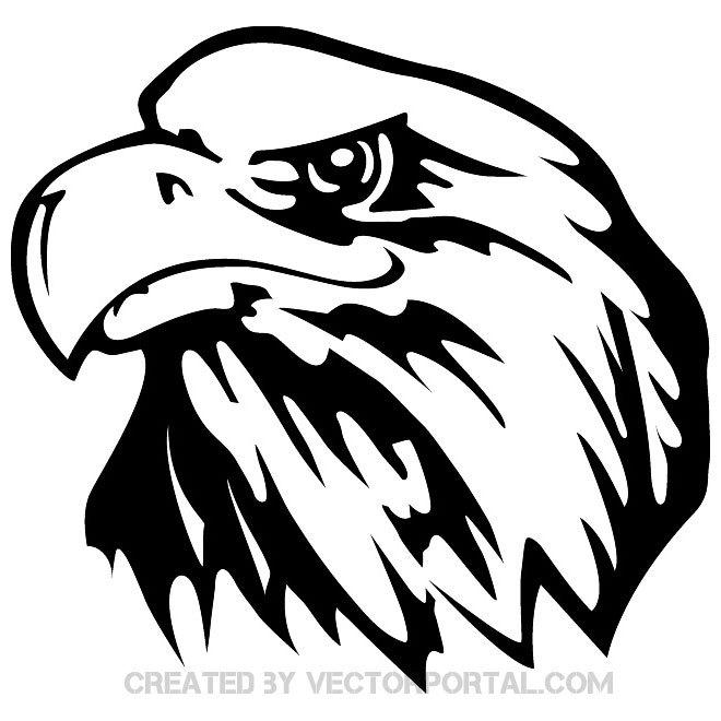 Eagle head clipart black and white vector 8 » Clipart Portal.