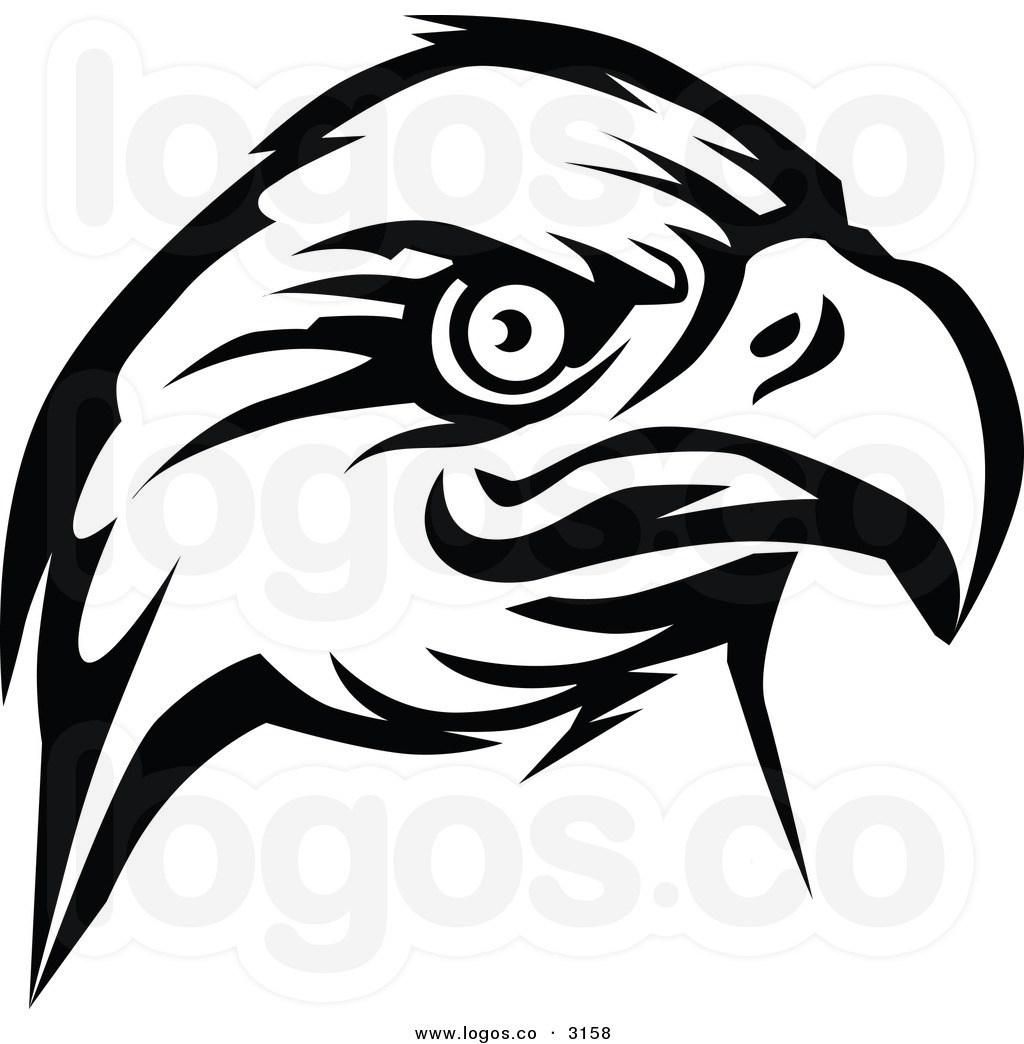 Eagle head clipart black and white » Clipart Portal.