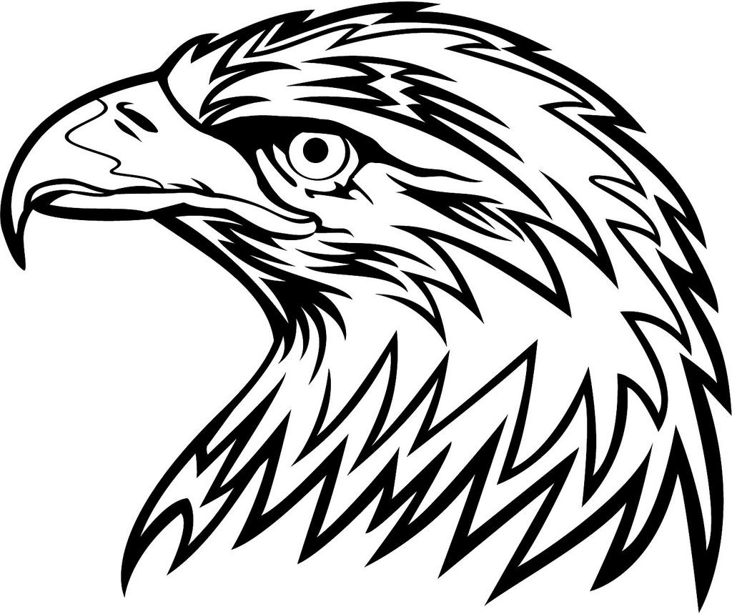 Eagle Head Clipart Black And White.