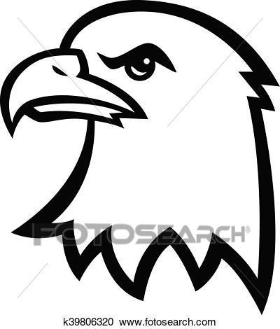 Eagle head clipart black and white 4 » Clipart Portal.