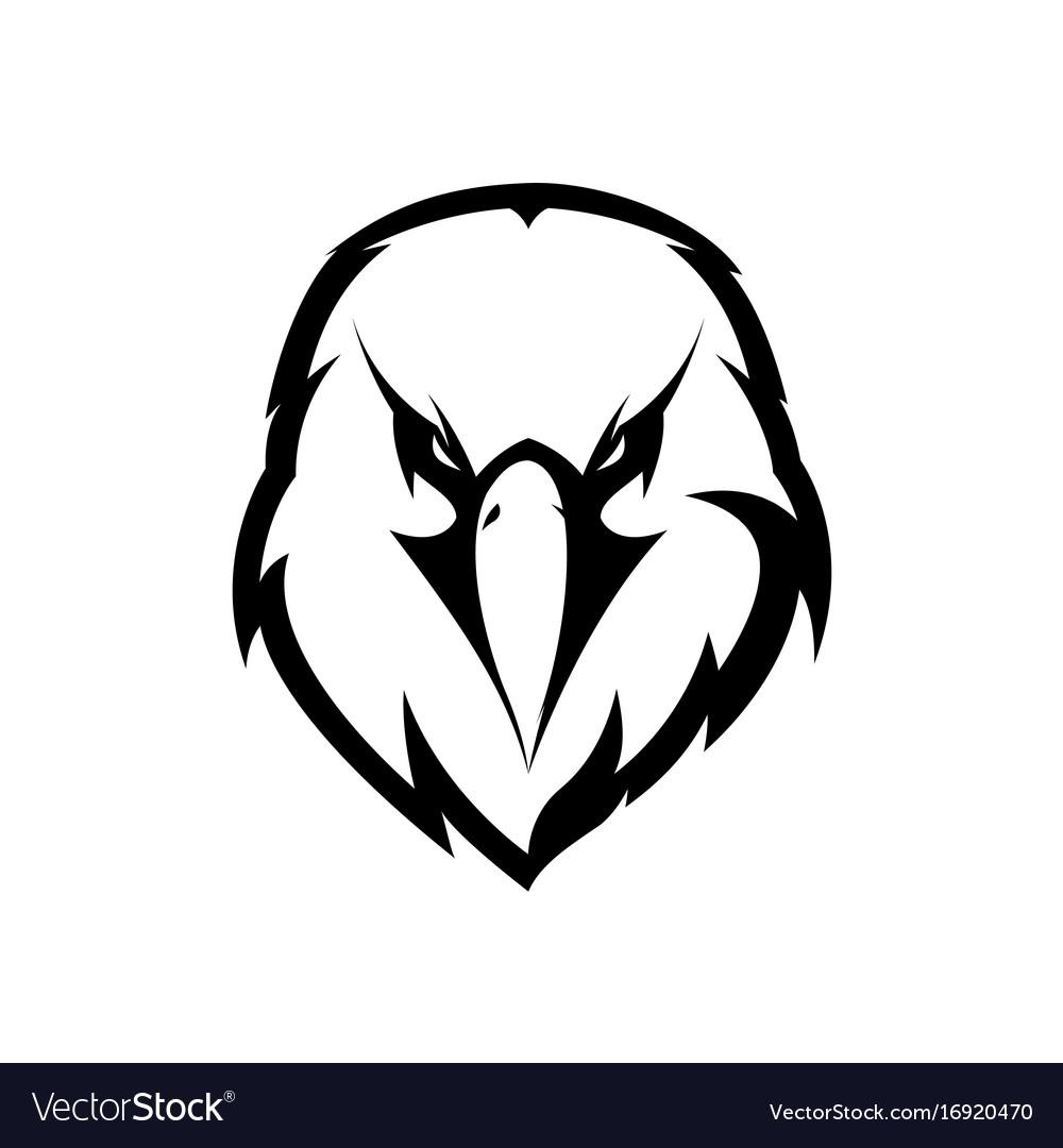 Furious eagle head athletic club logo.