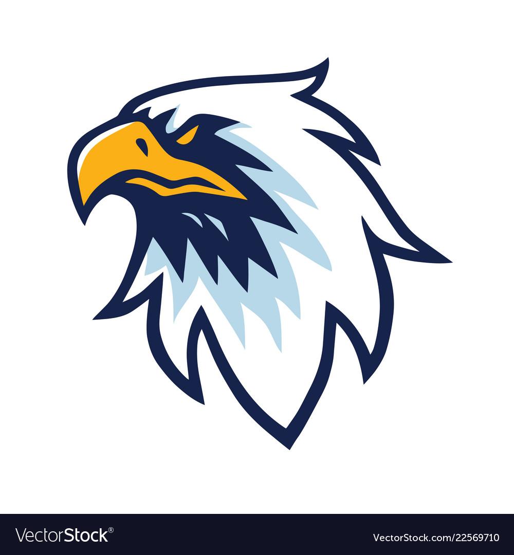 Eagle head logo design template icon.