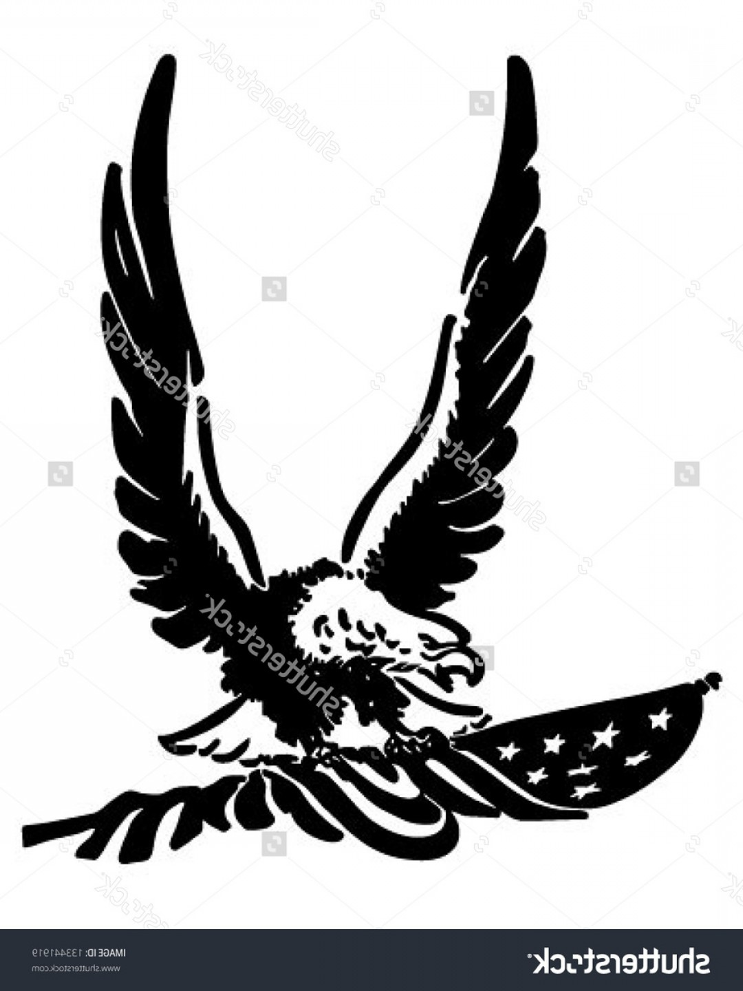 Eagle Wings Vector Clip Art.