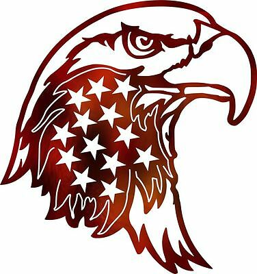 DXF CNC dxf for Plasma Laser American Eagle Stars Cut Ready Vector CNC file.
