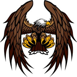 Bald Eagle Clip Art Dream League Soccer Import Logo Image.