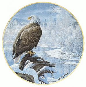 Eagle By Frozen Lake Clip Art Download.
