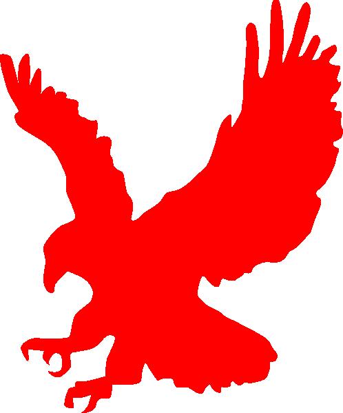 Eagle Landing Red Clip Art at Clker.com.