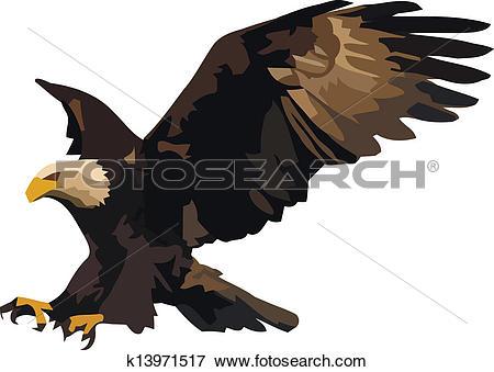 Eagle landing Clipart and Illustration. 277 eagle landing clip art.