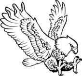 Clip Art of illustration, lineart, animal, eagle, eagles, bird.