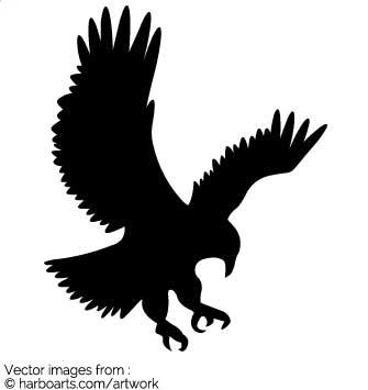 Eagle Landing Silhouette.