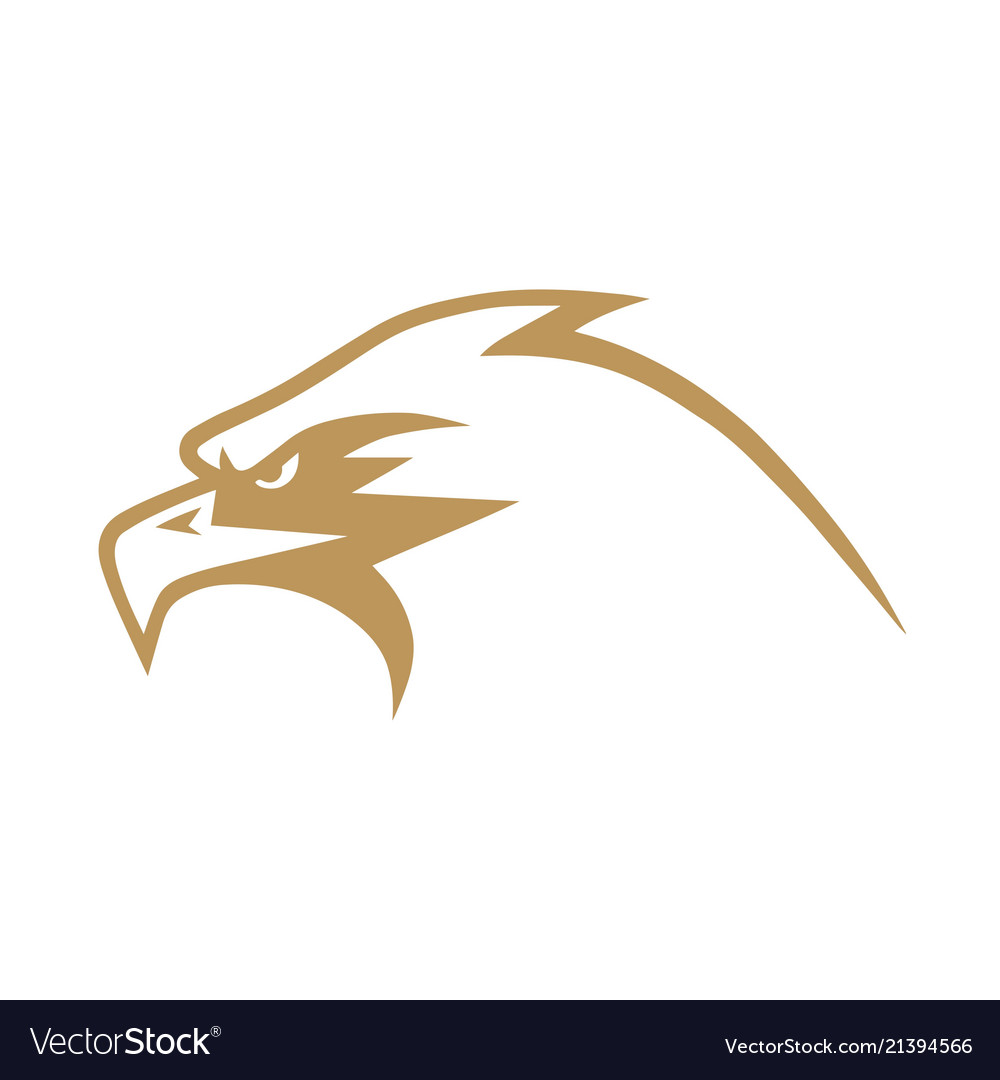 Gold eagle logo design.