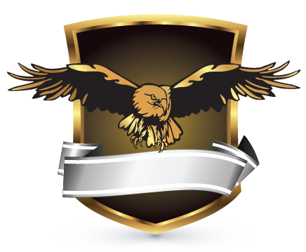 Design Free Logo: Eagle Shield Logo Template.