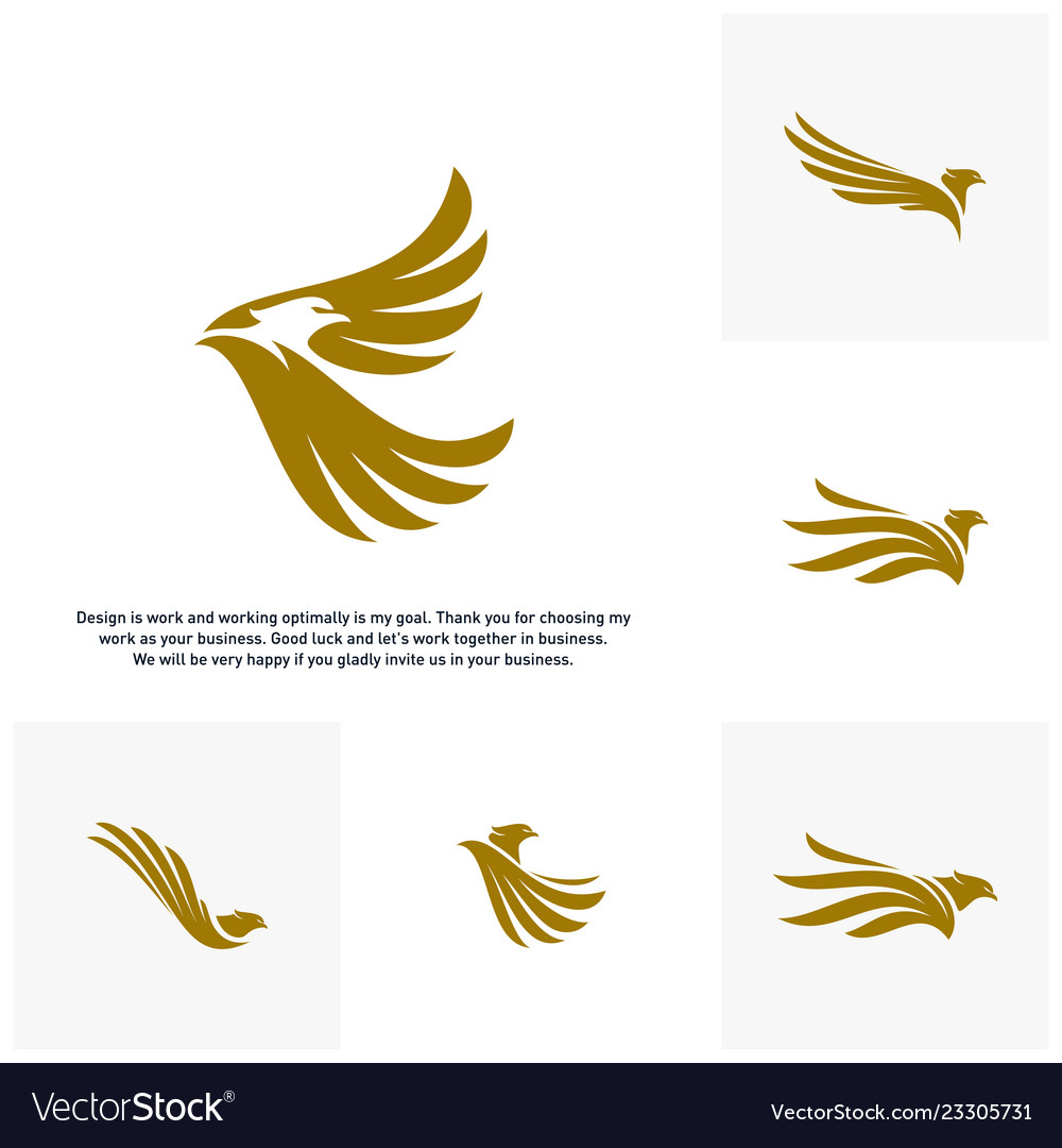 Set of eagle logo design logo template.