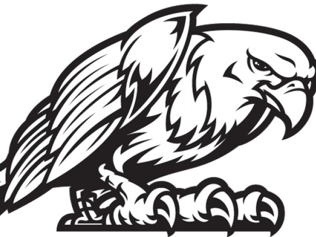 Black Eagle Clipart Eagle Mascot.