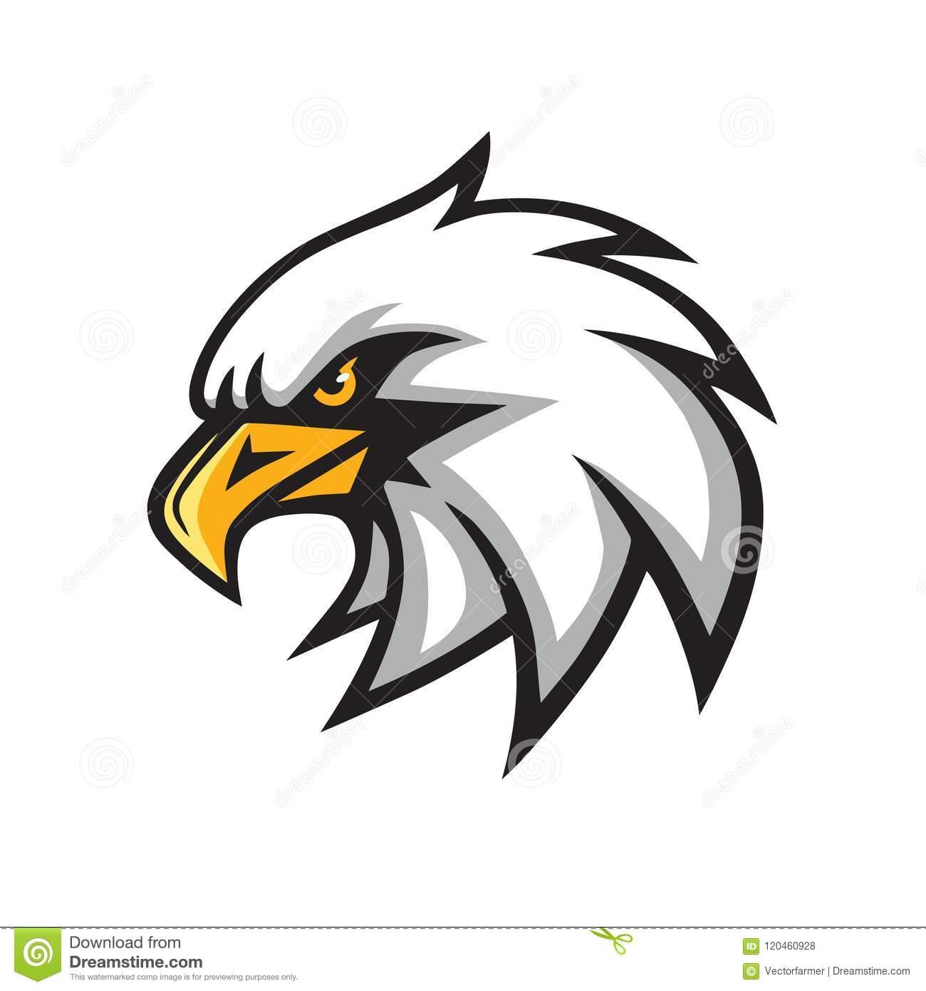 Eagle Mascot Vector Logo Sign Stock Vector.