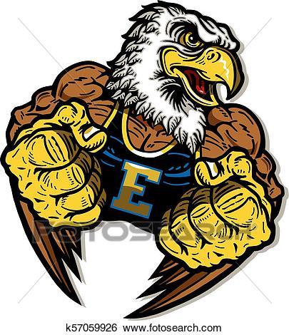 Eagle mascot Clip Art.