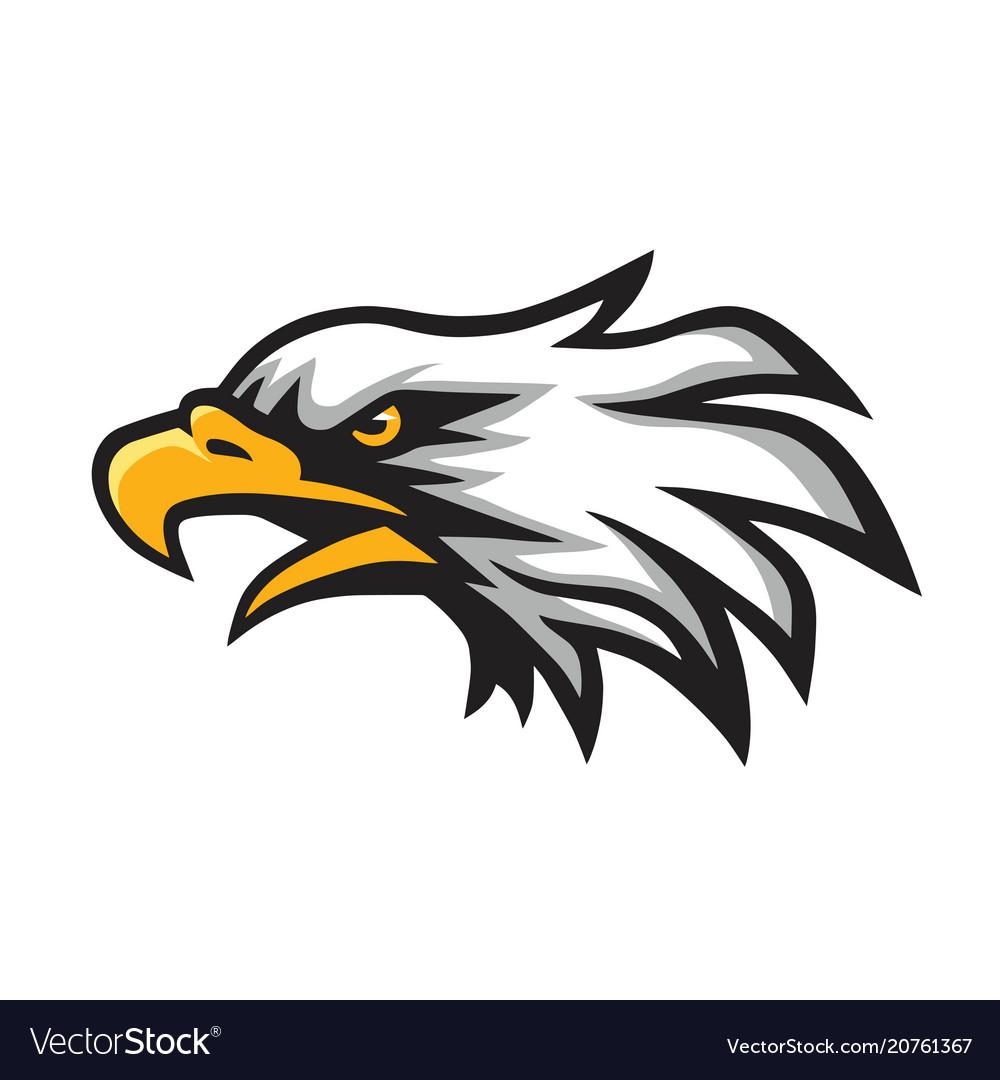 Furious eagle head logo mascot.
