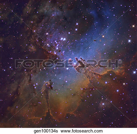 Stock Images of M16, The Eagle Nebula in Serpens. gen100134s.
