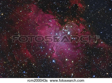 Stock Images of Messier 16, The Eagle Nebula in Serpens.