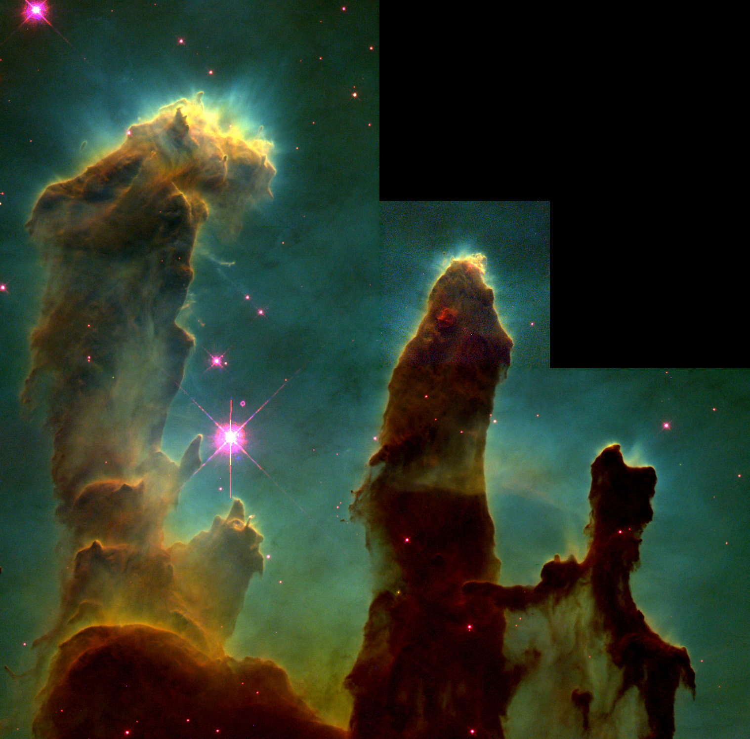 Eagle nebula pillars of creation clipart.