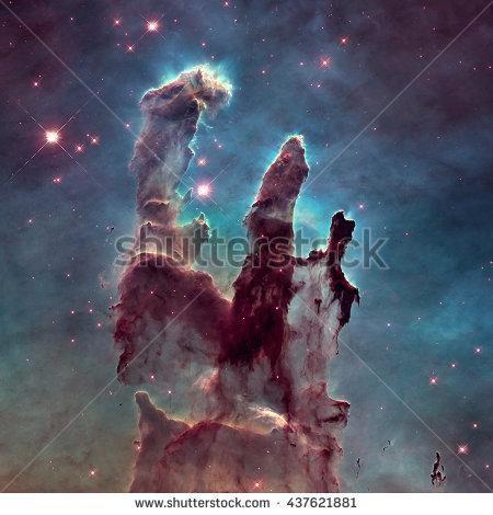 Eagle nebula pillars of creation clipart.