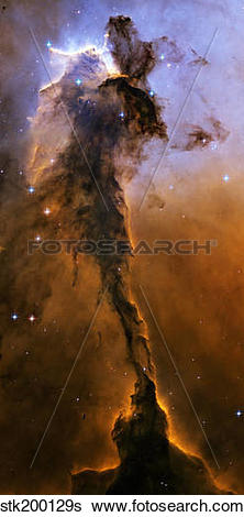 Stock Images of Stellar Spire in the Eagle Nebula. stk200129s.