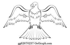 Eagle Outline Clip Art.