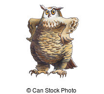Eagle owl Stock Illustrations. 651 Eagle owl clip art images and.