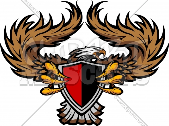 Eagle Clipart Graphic Vector Logo.