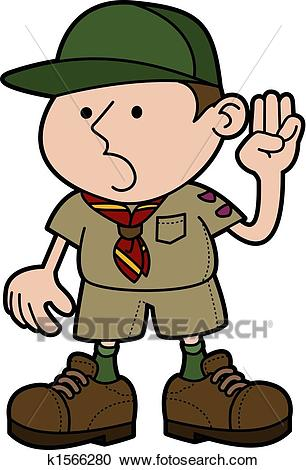 Illustration of boy scout Clipart.
