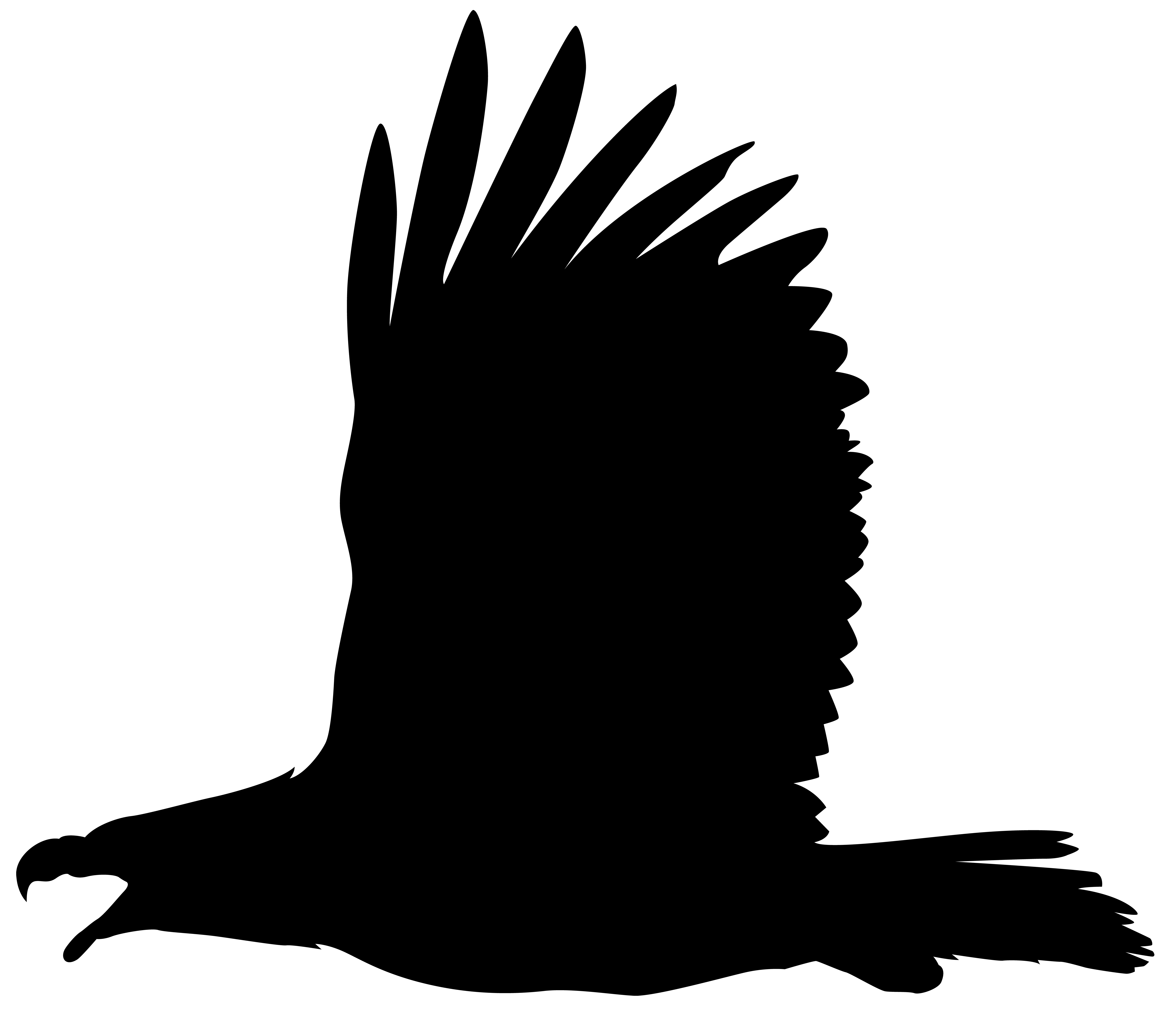Eagle Silhouette PNG Clip Art Image.