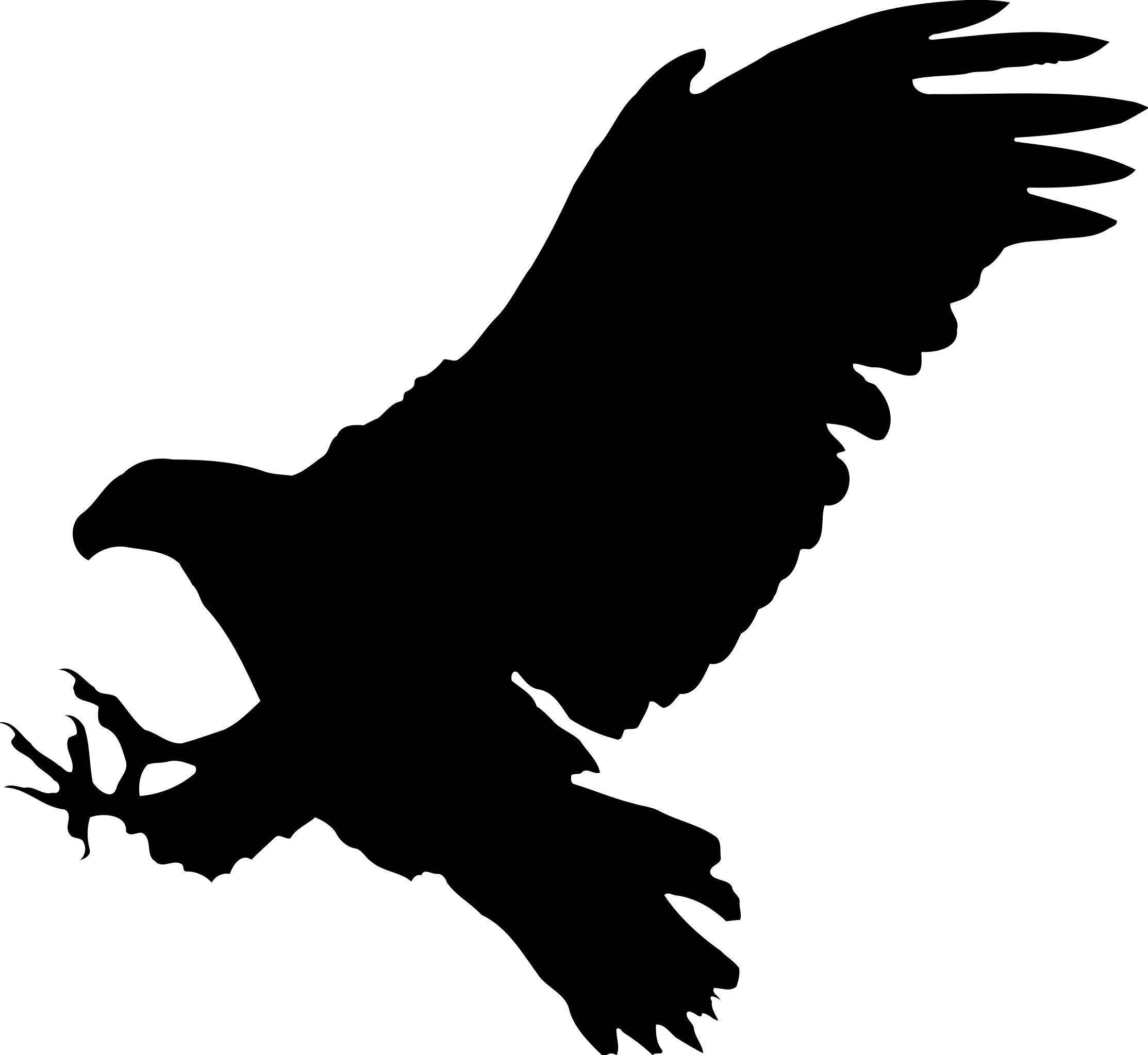Eagle silhouette clipart 4 » Clipart Station.