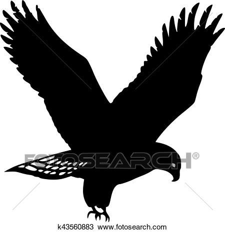 Golden Eagle Silhouette Clipart.