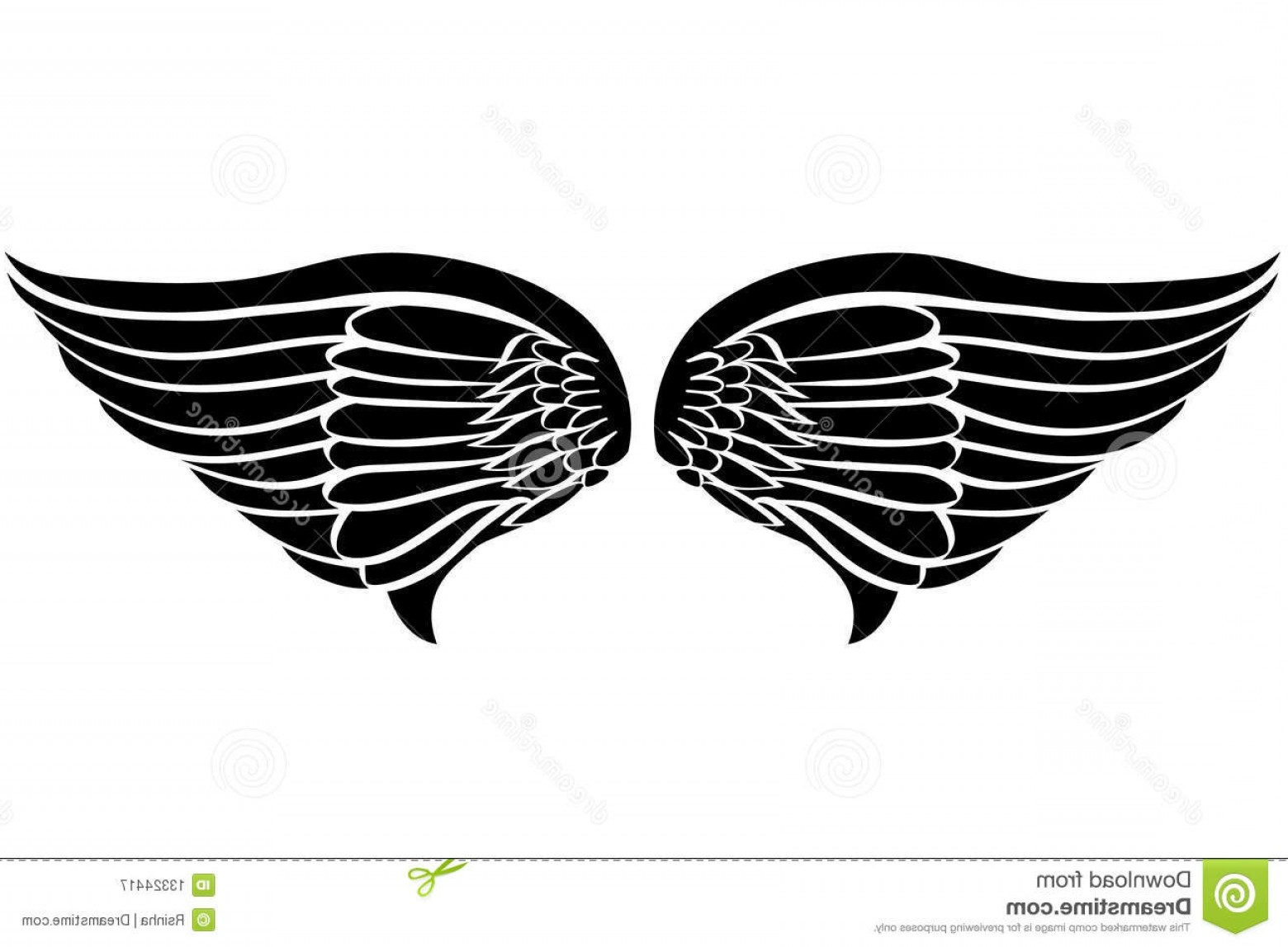 Royalty Free Stock Photography Eagle Wings Tattoo Image.