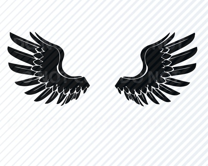 American Eagle Wings SVG Files Clipart Clip Art Silhouette Vector Images  Cutting Files SVG Image For Cricut America Eagles.