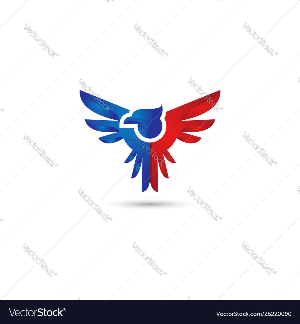 Eagle wings logo.