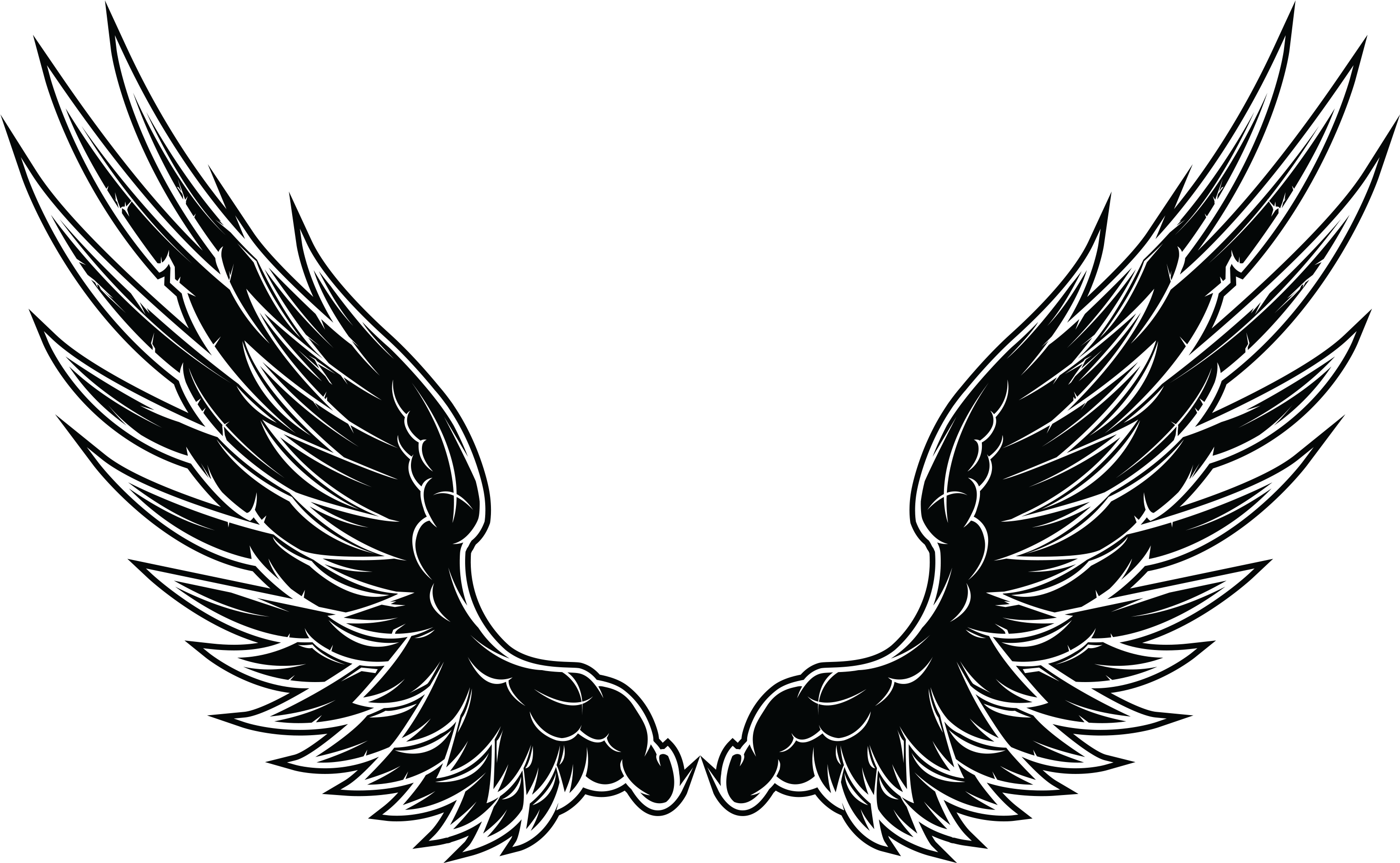 HD Eagle Wings Tattoo Designs Transparent PNG Image Download.