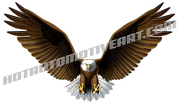eagle wingspread clipart, buy two images, get one image free.