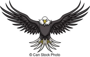 Eagle Wings And Claws Mascot Vector Vector Clipart.
