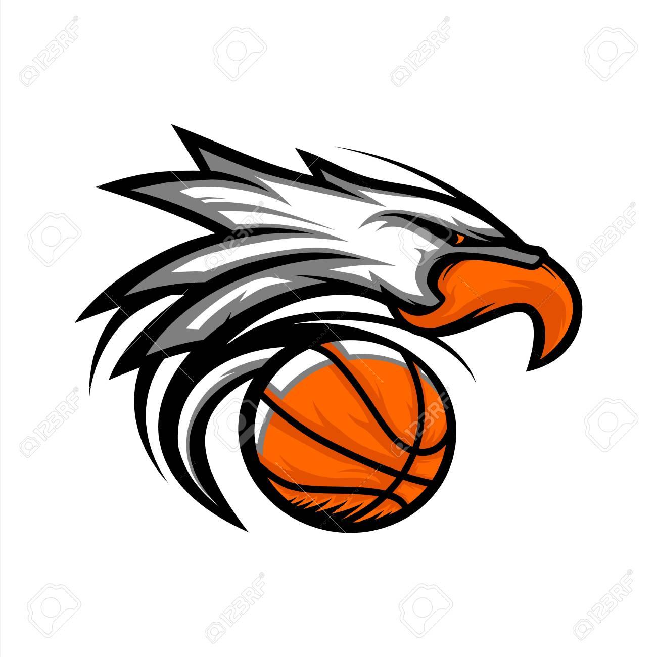 Eagle Basketball Ball Logo.