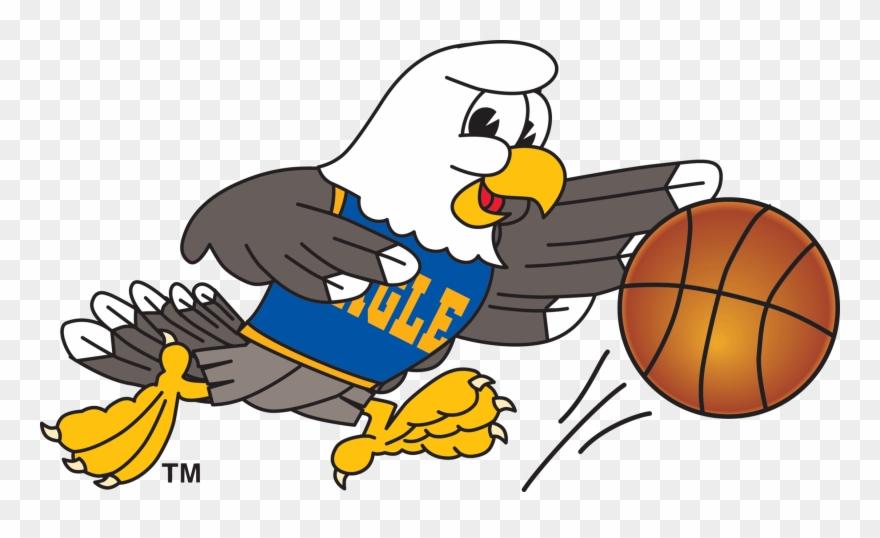 Eagle Playing Basketball.