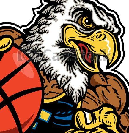 EPS Vectors of eagle basketball player.