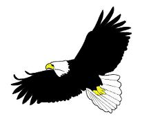 Cartoon eagles clip art.