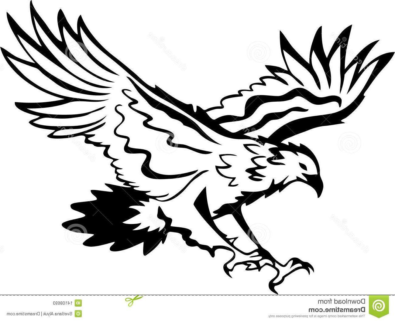 Eagle Clip Art Black and White.