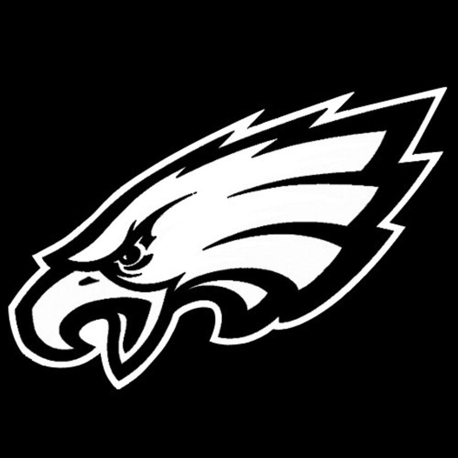 Philadelphia Eagles 8x8 White Team Logo Decal.