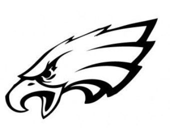 Image result for eagles black and white logo.