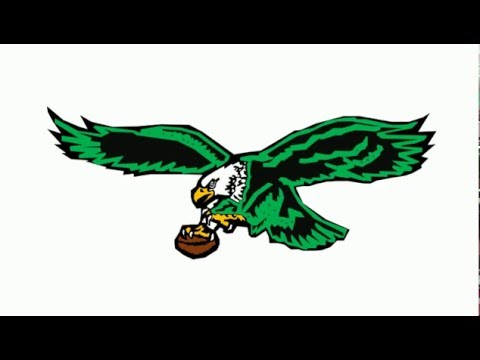 How to Draw Philadelphia Eagles Logo Retro Old School.