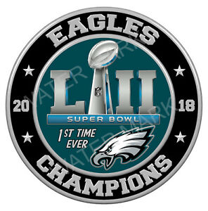 Details about Philadelphia Eagles Super Bowl 52 2018 Champions, 3\'\' Sticker  Decal NFL Football.